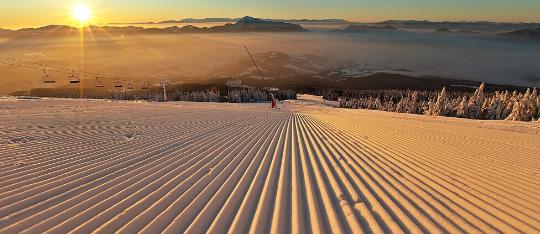 Jarná lyžovačka na Kubínskej